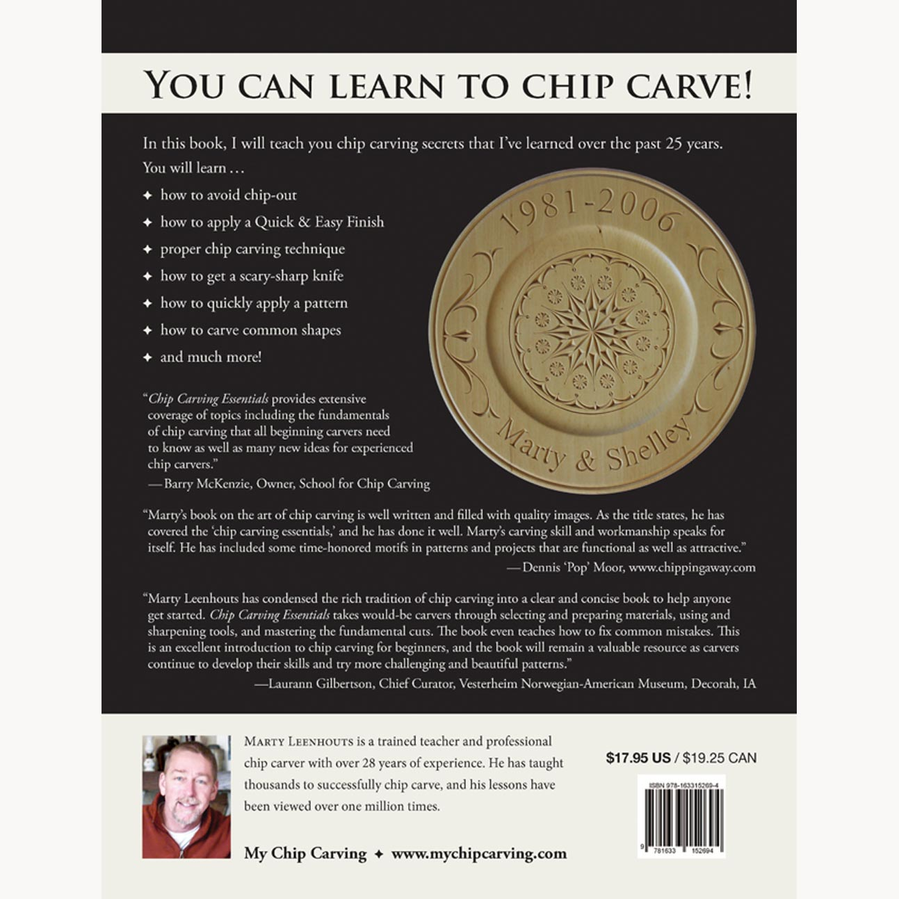 Chip carving essentials by marty leenhouts ezcarving